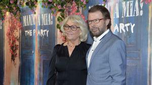 Bjorn Ulvaeus med partner Lena Kallersjo i Stockholm 20.1.2016.