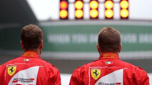 Sebastian Vettel och Kimi Räikkönen, våren 2017.