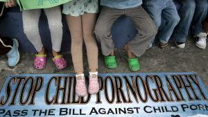 Demonstration mot barnpornografi