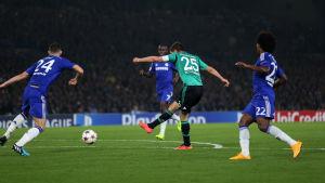 Klaas-Kan Huntelaar gjorde mål för Schalke den 17 september.