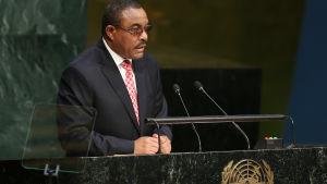 Etiopiens premiärminister hailemariam desalegn