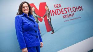 Tyska arbetsmarknads- och socialministern Andrea Nahles