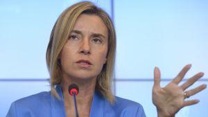 EU:s utrikespolitiska representant Federica Mogherini i Luxemburg den 5 september 2015.