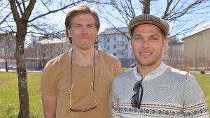 Mathias och Sebastian Strandvall är bra på mycket. Speciellt att snurra runt en pinne.