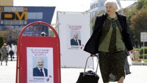 Affischer med Lukasjenka inför presidentvalet i oktober 2015