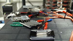 Batteritestning.