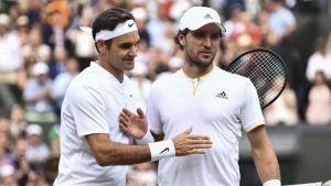 Roger Federer vann över Mischa Zverev i tredje omgången.