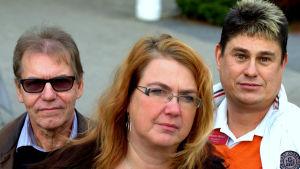 Per-Ole Råholm, Carola Backholm och Mikael Finne i den nya hjärtgruppen.