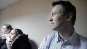 Alexej Navalyj i domstolen 30 december 2014