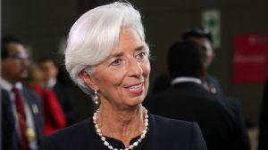 Christine Lagarde under en presskonferens vid ett APEC-möte i Peru 18.11.2016