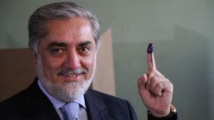 Abdullah Abdullah röstade i Kabul (14.6.2014)