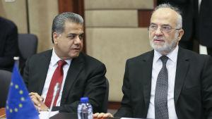 Den irakiske regionala utrikesministern i Kurdistan Falah Mustafa Bakir och Iraks utrikesminister Ibrahim Al-Jaafari