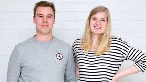 Niklas Evers från STBL och Antonia Bäckman från SHS.
