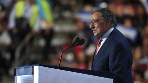 Leon Panetta på demokraternas partikonvent i Philadelphia.