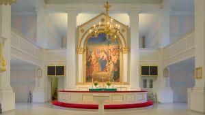 Altaret i Gamla kyrkan.