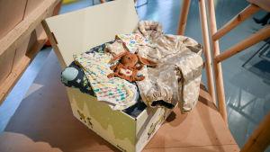 Moderskapsförpackningen år 2016.