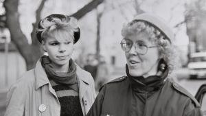 Birgitta Boucht tillsammans med Charlotte boucht
