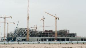 Byggnadsarbete inför fotbolls-VM 2022, Qatar.