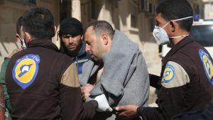 Gasattacken skedde i staden Khan Sheikhun i provinsen Idlib.