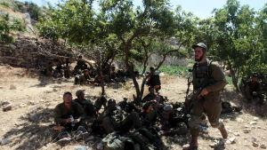 israeliska soldater på västbanken