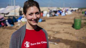 Vår högsta prioritet är barnskydd och utbildning, så att barnen kan hantera den nya verkligheten, säger Sari Kaipainen vid Rädda barnen. Hon har arbetat med flyktingbarn i Kurdistan i ett halvår.