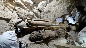 Mumie i Egypten