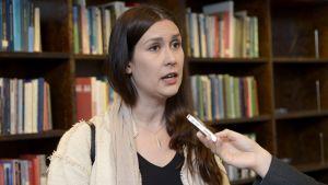 Tiina Elovaara, den sannfinländska utbrytargruppen Nytt alternativs vice ordförande.