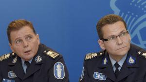 Polischef Lasse Aapio och biträdande polischef Ilkka Koskimäki