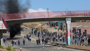 Sammandrabbningar under strejk i Panduro.