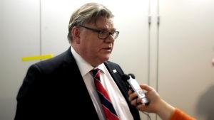 Utrikesminister Timo Soini.