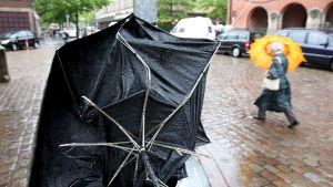 Trasigt paraply