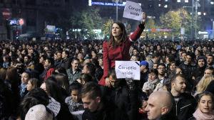 Demonstration i Bukarest