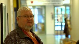 Risto Airaksinen, en av besökarna vid Gerby hälsostation
