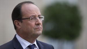 Hollande vid presidentpalatset i Paris den 10 oktober 2013