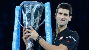 Novak Djokovic efter ATP-slutspelets seger i Londog 2014