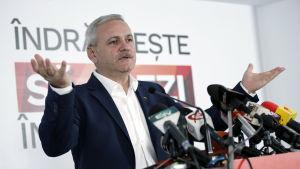 Liviu Dragnea, ledare för socialdemokraterna i Rumänien.