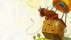 Bild ur boken Betty i luften, av Cara Knuutinen