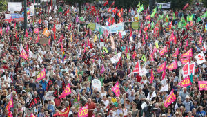Demonstration i Hamburg mot frihandelsavtal (17.10.2016).