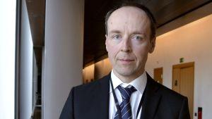 Sannfinländarnas partiledarkandidat Jussi Halla-aho.