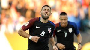 USA:s Clint Dempsey firar mål i Copa America.
