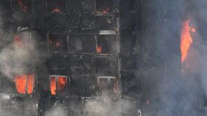 Eldsvåda i brand i London 14.6.2017