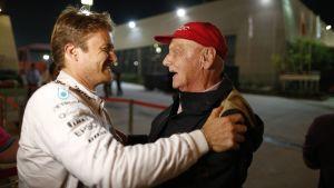 Nico Rosberg, Niki Lauda.