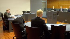 Äggrättegången avslutas i Österbottens tingsrätt i Vasa.