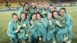 Australien vann OS-guld i Rugby Sevens 2016.