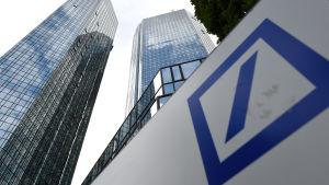 Deutsche Bankin pääkonttori Frankfurtissa, Saksassa.