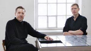 Konstnärsduon IC-98 Visa Suonpää och Patrik Söderlund