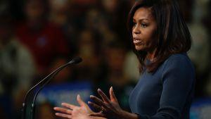 Michelle Obama i New Hampshire den 13 oktober 2016.