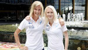 Camilla Richardsson och Sandra Eriksson.