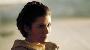 Carrie Fisher i den femte Star Wars-filmen The Empire Strikes Back 1980.
