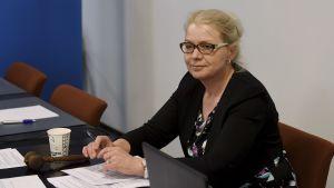 Ordföranden för Sannfinländarnas riksdagsgrupp Leena Meri